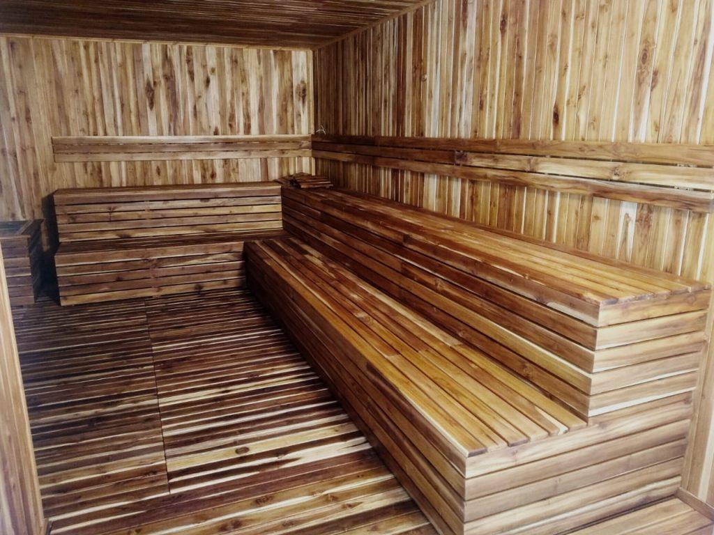 Revestimiento cuarto sauna en madera